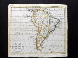 Guthrie 1788 Antique Hand Col Map. South America from the best Authorities